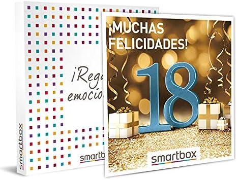 Smartbox - Caja Regalo - ¡Muchas felicidades! 18 años - Idea de Regalo - 1 Experiencia de Estancia, gastronomía, Bienestar o Aventura para 1 o 2 Personas: Amazon.es: Deportes y aire libre