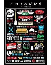 Erik Magnetische posterlijst met poster - Friends Infographic - poster met lijst