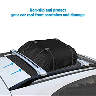 ROOF CARGO BAG PROTECTIVE MAT, Roof Rack Pad for Car Roof Storage Bags Top Universal Roof Rack Pad for Rooftop Cargo Bag TOP UNIVERSAL ROOF RACK PAD for PROTECTION from Car Roof Racks, 36'' x 39'': Automotive