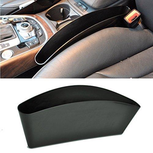 Tips4wise PP Universal Vehicle Car Seat Side Slit Pocket Catcher Car Organizer Fills Gaps Storage (1Pcs)(Black)