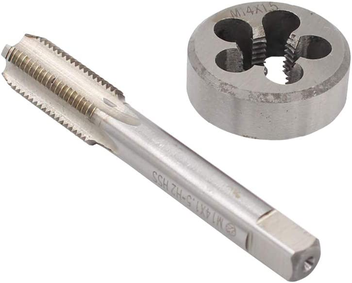 XtremeAmazing M14 x 1.5mm Metric HSS Tap and Die Set Right Hand Thread