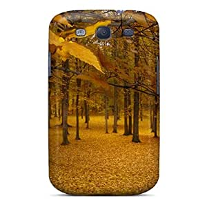 S3 Scratch-proof Protection Case Cover For Galaxy/ Hot Golden Autumn Phone Case