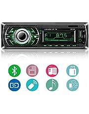 Autoradio Bluetooth, ieGeek Audio del Coche Reproductor MP3 Estéreo, Llamadas Manos Libres, FM Radio Coche, Pantalla de Visualización de LCD Bluetooth/USB/SD/AUX/Carga, 1 DIN
