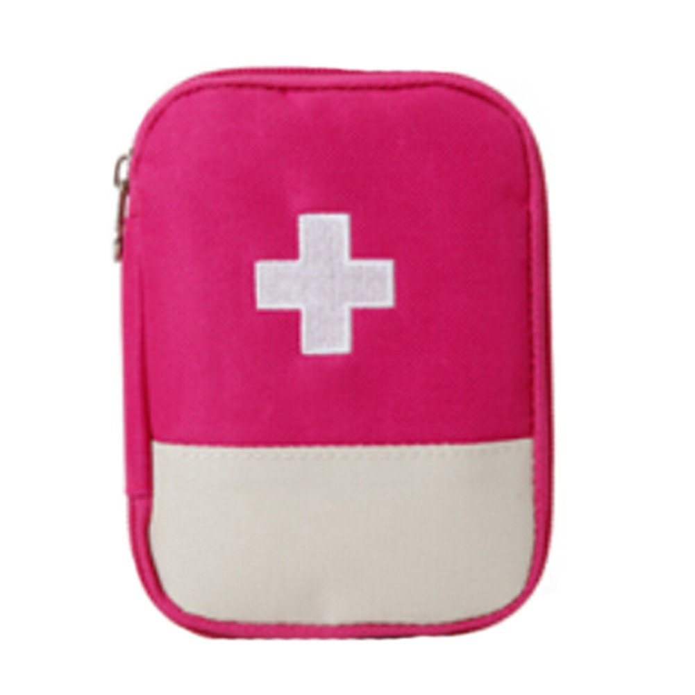 Kylin Express Portable First AID Pouch Pill Bags Medicine Storage Container Pill Case Rose