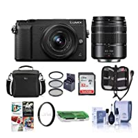 Panasonic Lumix DMC-GX85 Mirrorless Camera with 12-32 & 45-150mm Lenses and FreeAccessories Kit