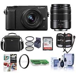 Panasonic Lumix DMC-GX85 Mirrorless Camera with 12-32 & 45-150mm Lenses and FreeAccessories Kit