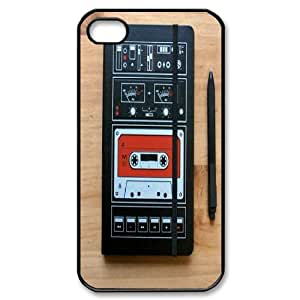 Qxhu Audio Cassette Snap-on Cover Hard Carrying Case for Iphone4,4S