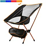 MayJu Durable Folding Chair Ultralight Beach Chair super Light with Carry Bag {Russet Orange}