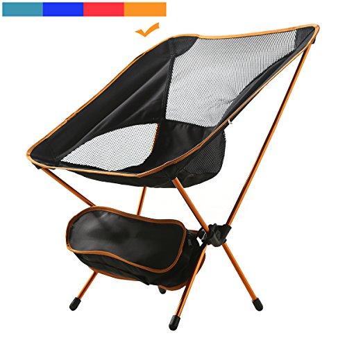 MayJu Durable Folding Chair Ultralight Beach Chair super Light with Carry Bag {Russet Orange}