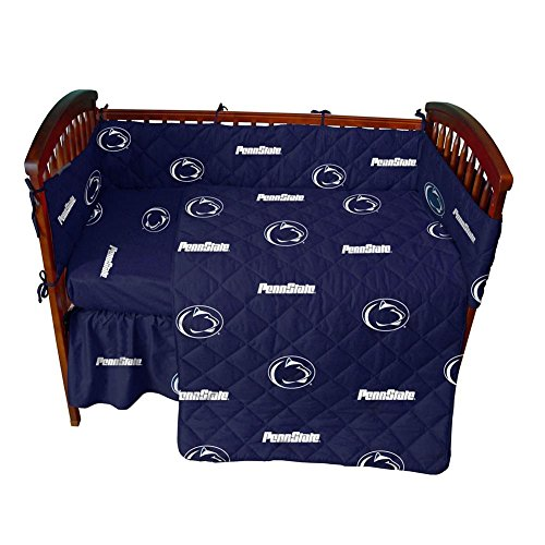 Penn State Nittany Baby Crib Fitted Sheet-White by College Covers (Image #1)