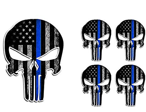 Exterior Accessories Pack of 3 Punisher Skull American Flag Vinyl Decal Stickers Car Truck Sniper Marines Army Navy Military Jeep Graphic 5 x 7