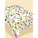 Tulip Vinyl Tablecover with Non-Slip Flannel Back