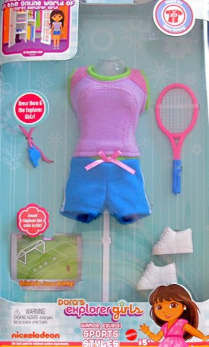 DORA Explorer Girls SPORTS STYLE FASHIONS Outfit w On-Line SOCCER CODE (2009) (Links Dora)
