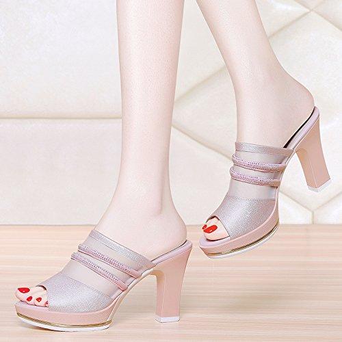 Mujer Mujer Treinta Casual Mujer Zapatos De Zapatos Mujer Thirty De Moda De Seis KHSKX Pink Zapatos Y Casual Tacon Sandalias De five De 4qPwpSU6