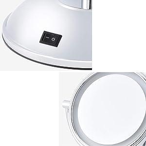 Miroir Maquillage LED Miroir Miroir De Bureau Dortoir Miroir Double Face Miroir FANJIANI