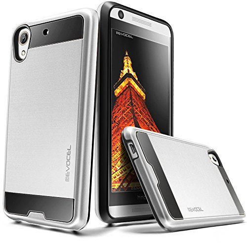 Evocel HTC Desire 626 / 626s Case [Hybrid Lite Series] Slim Protector Case [Brushed Metal Texture][Slim][Shiny] For HTC Desire 626 / 626s, Silver (EVO-HTC626-MS06)