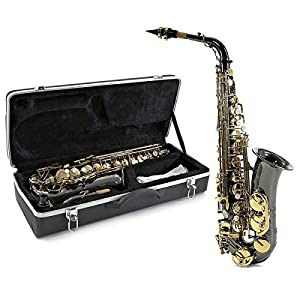 Alto Saxophone by Gear4music Black & Gold