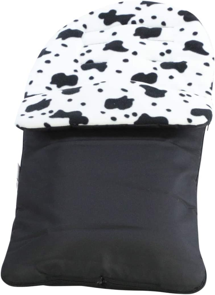 Animal Print Padded Pushchair Footmuff//Cosy Toes Compatible with Mothercare Orb Cow