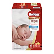 Huggies Little Snugglers Baby Diapers, Size Newborn, 132 Count, GIANT PACK (Packaging may Vary)