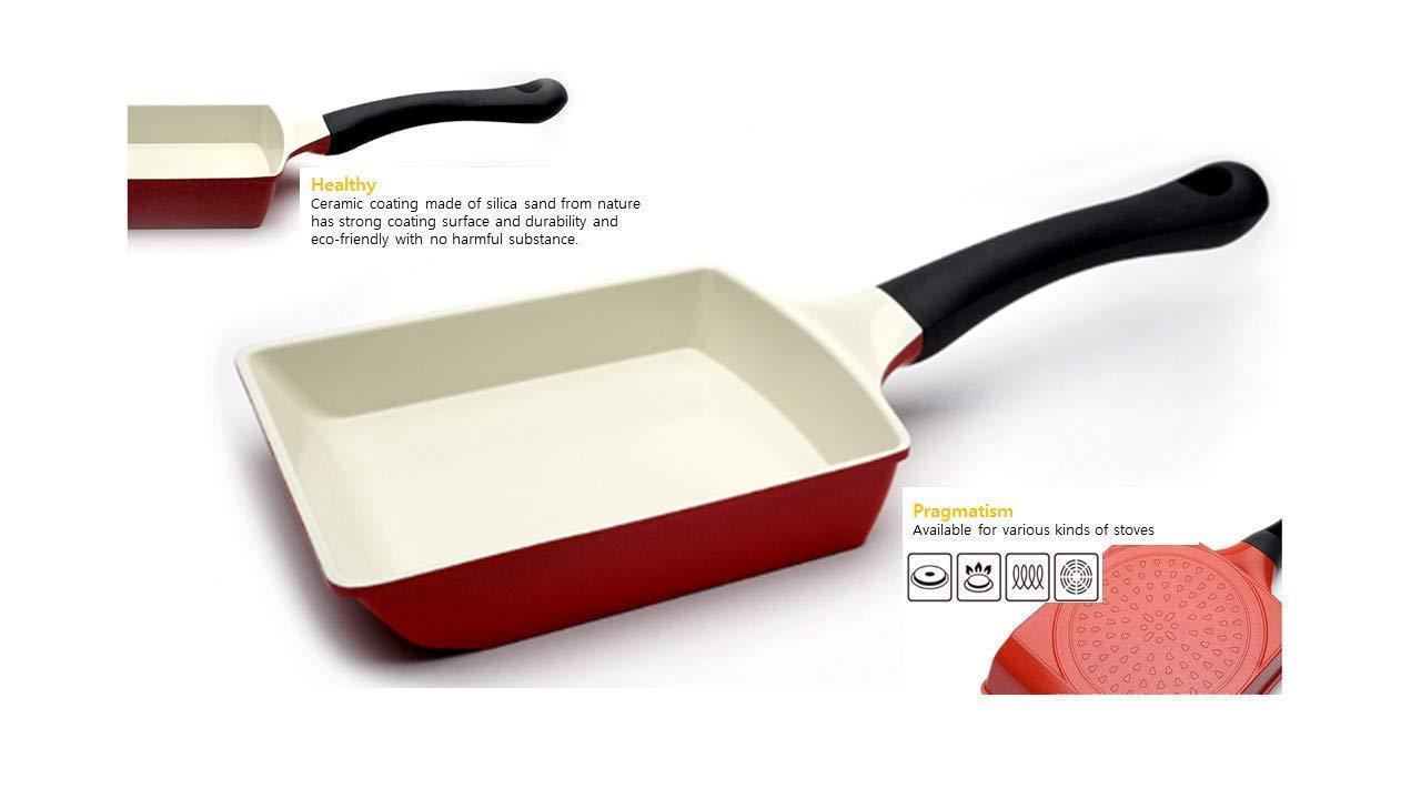 Korean egg roll pan, Stylish Rectangle Omelet pan, Induction, made in korea