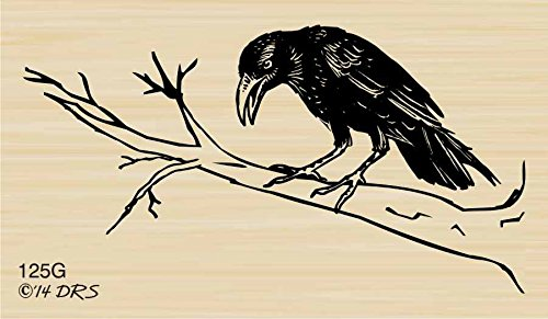 Cheap  The Raven Rubber Stamp By DRS Designs
