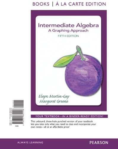 Intermediate Algebra: A Graphing Approach, Books a la Carte Edition (5th Edition)