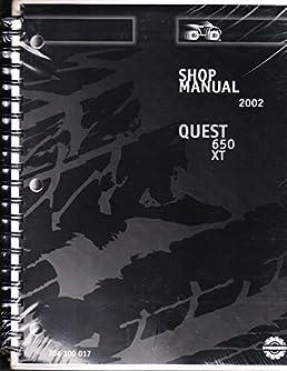 bombardier atv quest 650 xt 2002 service repair manual 704 100 017 rh amazon com 2003 Bombardier 650 Quest 4x4 2004 Bombardier Quest 650 Manual
