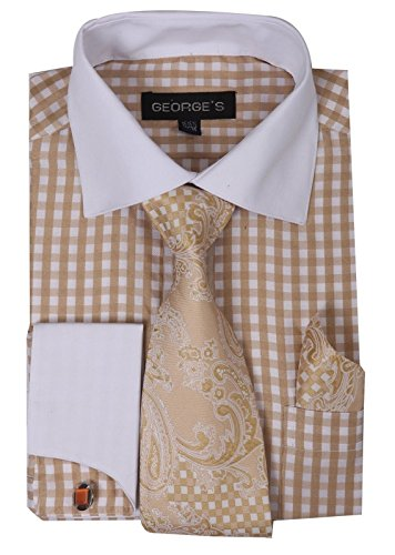 brown dress shirt and tie - 7