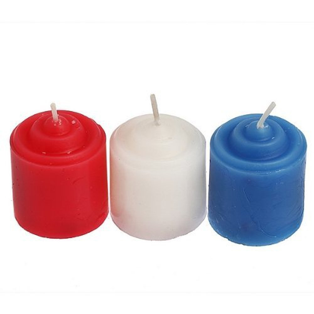 ELISEL3 PCS of hot wax candles drip big love ~ SM tools candles at low temperature by ELISEL