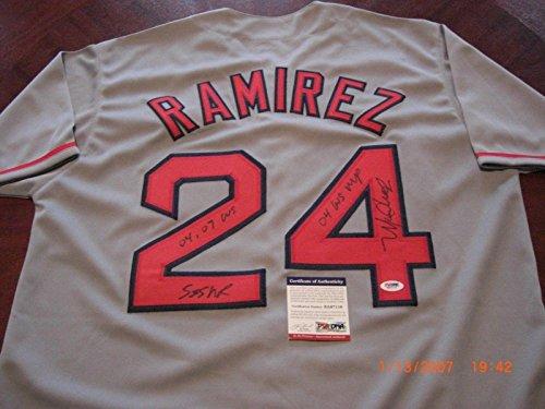 mirez Jersey - Redsox 04 Ws Mvp 555 Hrs 04 07 Ws - PSA/DNA Certified - Autographed MLB Jerseys ()
