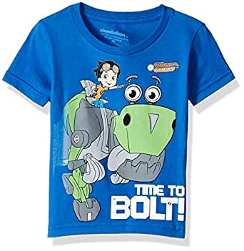 Nickelodeon Toddler Boys' Rusty Rivets Time to Bolt Short Sleeve T-Shirt, Royal, 2T