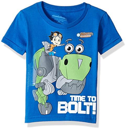 Rusty Rivets Boys' Toddler Time to Bolt Short Sleeve Tshirt, Royal, 5T (T-shirt Rusty Sleeve Short)