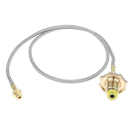 F Fityle Tubo de Protección de Válvula Adaptador de Manguera de Gas de Estufa Duro -