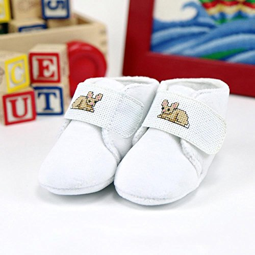 DMC Charles Craft Baby Slippers Counted Cross Stitch Kit -18