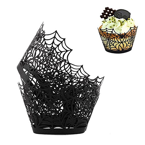 NPLE--50 pcs Spider Baking Cup Paper Cupcake Christmas