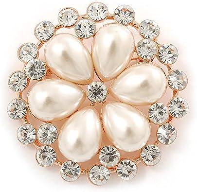 SALE pearls brooch rhinestones crystals brooch Oval pearls brooch bridal brooch bridesmaids brooch pin wedding pin wedding gift