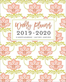 Amazoncom Weekly Planner 2019 2020 12 Month Academic