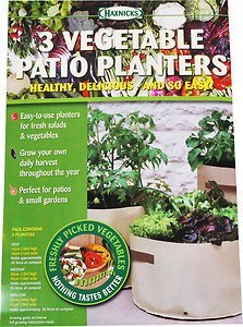 3 Haxnicks Patio Vegetable Planters, Soft Green