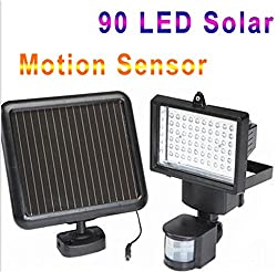 90LED Upgraded Sogrand! Solar Security Light Solar Motion Light Solar Lights Solar Sensor Light Metal Detector