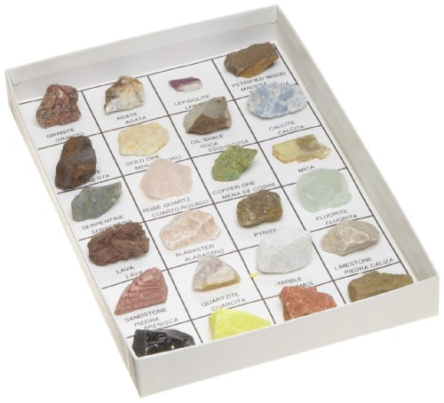 American Educational The U.S. Mounted Rocks and Minerals Reference Collection (Pack of 24)