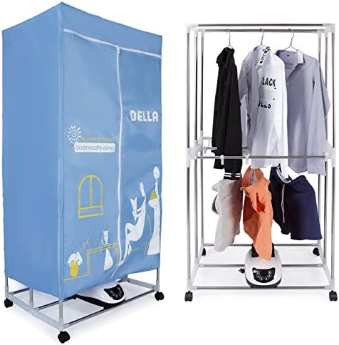 Della 15KG Compact Electric Portable Energy Saving Clothing Dryer Rack for Homes, Dorms, Convenient in 30 Minutes