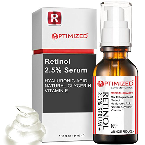 Retinol Serum 2.5% with Hyaluronic Acid, Glycerin, Vitamin E