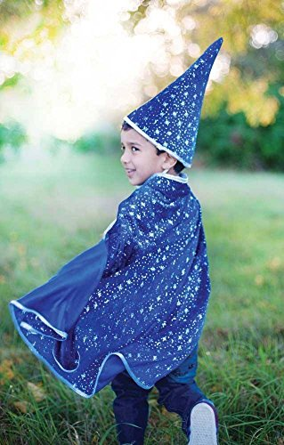 Glitter Wizard Set, Cape & Hat, -
