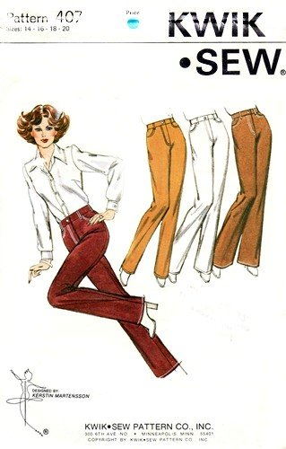 Amazon Kwik Sew 407 Misses Jeans Sewing Pattern Sizes 14 16 18