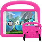 New iPad 9.7 2018/2017 Case - Huaup Shockproof Case Light Weight Handle Friendly Stand Kids Case for Apple iPad 9.7-inch 2018/2017 & 6 Gen/5 Gen/Air 2/Air/Pro 9.7' (Pink)