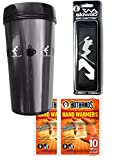 Ski Gift Pack - Travel Mug With Ski Carrier & Hothands Warmers
