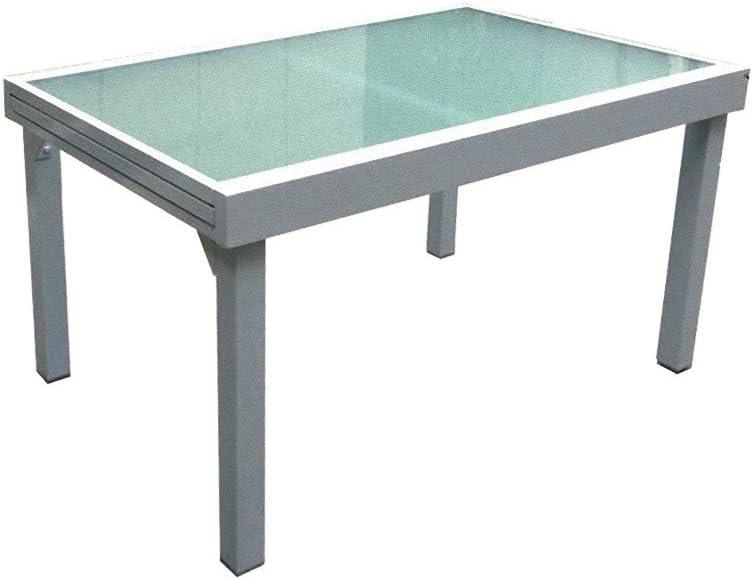 Tavolo Allungabile 135 270 X 90 Cm Garden Pleasure In Alluminio E Vetro Tavoli Standard Casa E Cucina
