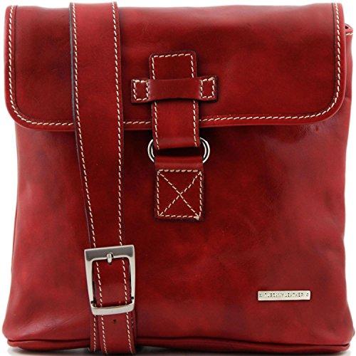 Andrea unisex Marrón piel en Bolso Tuscany Rojo Leather oscuro HqU5xZ