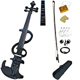 Gift Ideas For Kid/Adult Leeche Solid Wood Electric/Silent Violin Ebony Fittings Full Size 4/4-LE