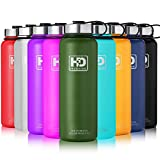 Large Vacuum Insulated Stainless Steel Water Bottle, Double Walled, Leak Proof and Built-in